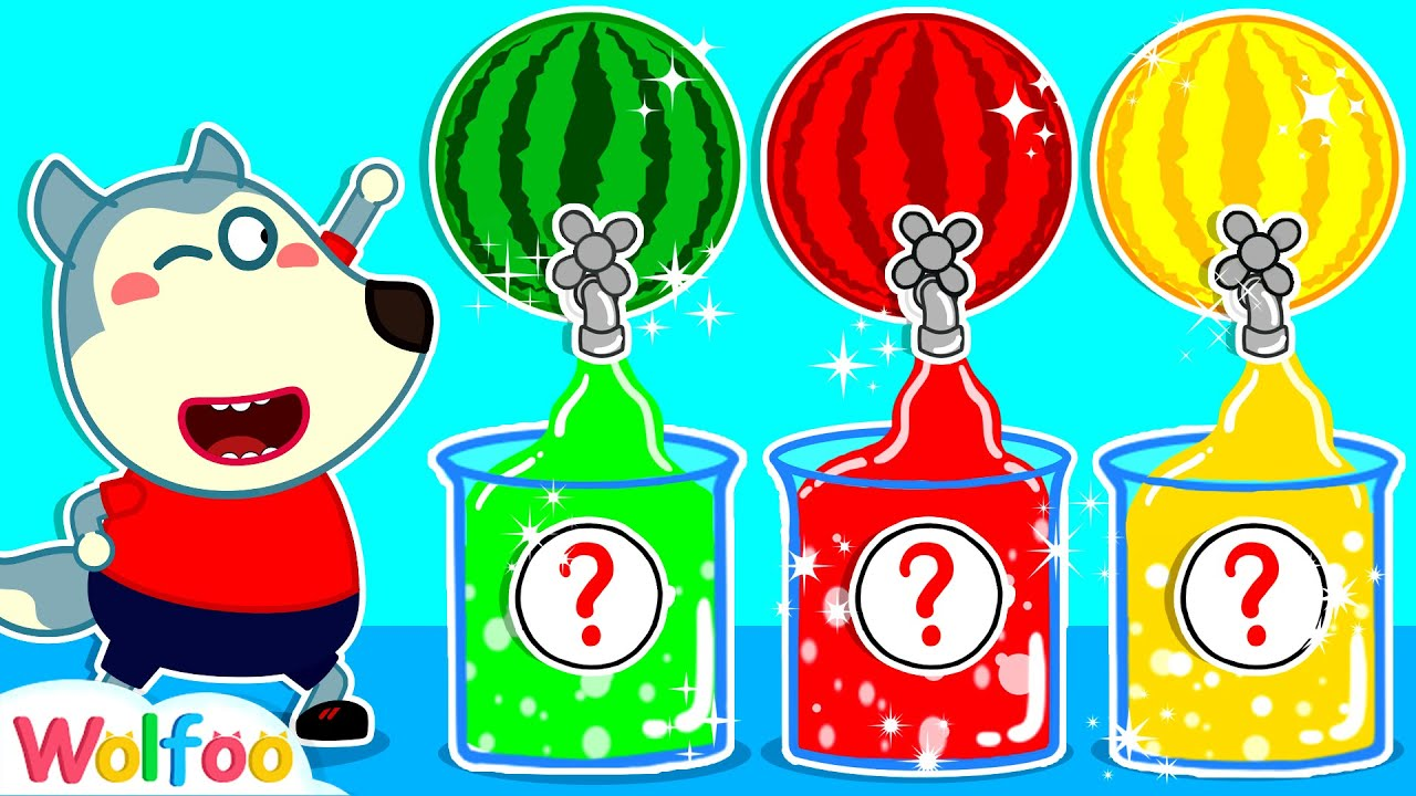 Wolfoo Learns Colors with Colorful Watermelon Juice | Wolfoo Channel Kids Cartoon