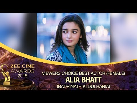DULHANIA Alia Bhatt | Viewers Choice Best Actor Female | Zee Cine Awards 2018