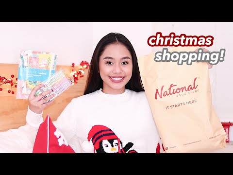 Christmas Shopping Haul ft. National Book Store + Giveaway! | ThatsBella