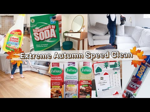 AUTUMN FALL MOTIVATIONAL CLEAN WITH ME | Extreme Clean With Me Of NEW HOUSE November 2019