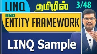 LINQ Sample || LINQ and Entity framework in Tamil Playlist Link: ht...