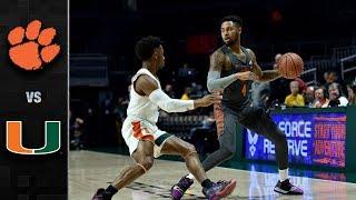 Clemson vs. Miami Basketball Highlights (2018-19)