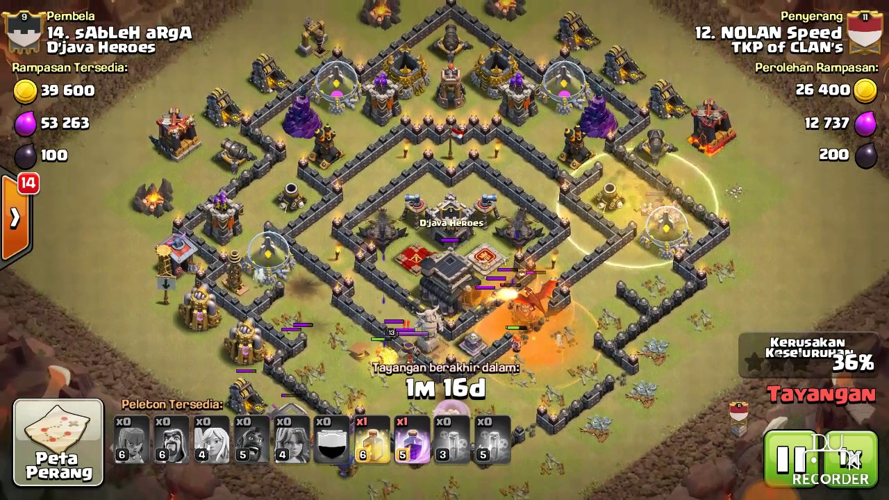 Base Th 9 Buat War Terkuat 8