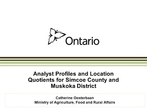 2018 Analyst Profiles and Location Quotients for Simcoe-Muskoka