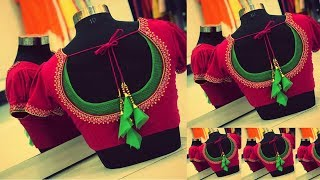 Different Types of Back neck Blouse Designs for Celebrations | Easy Creative Stitching