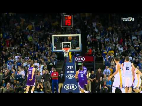 Golden State Warriors vs Sacramento Kings klay Thompson scores 37 points in one quarter