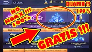 Video Trik Mendapatkan Diamond Gratis No Hoax di Mobile Legends Bang Bang download MP3, 3GP, MP4, WEBM, AVI, FLV November 2018