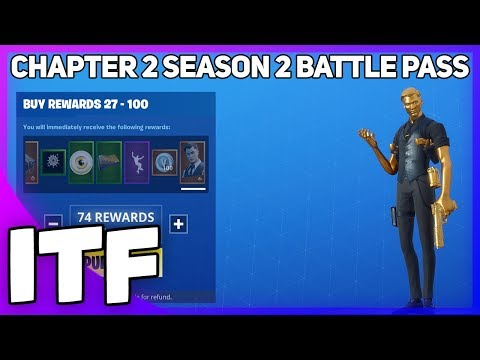 *NEW* CHAPTER 2 SEASON 2 BATTLE PASS! I BOUGHT ALL TIERS! (Fortnite Battle Royale)