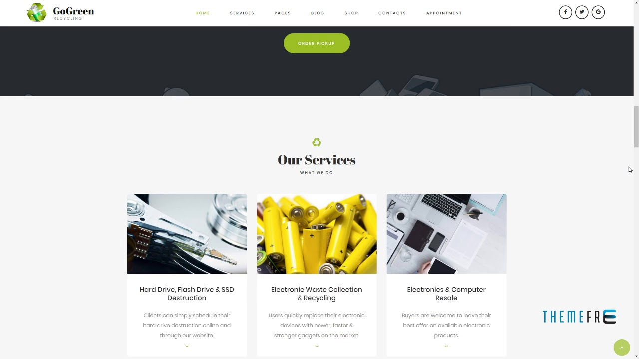 GoGreen - Waste Management and Recycling WordPress theme Jaden M
