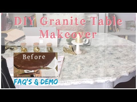 FAQ's about Epoxy Countertops and DIY Granite Painted Makeover w/Demo  | Project Room Makeover Pt.2