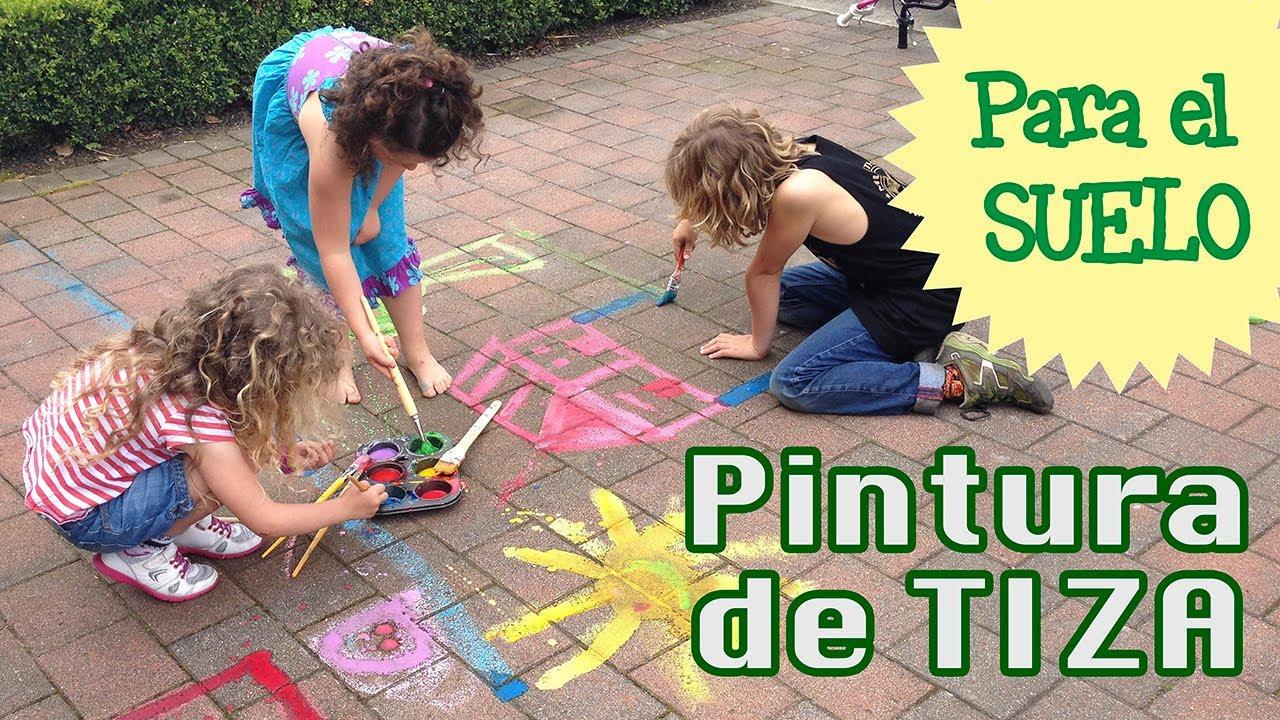 C mo hacer tiza casera para el suelo chalk paint youtube - Cojines gigantes para el suelo ...