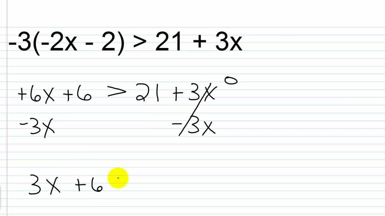 How to solve inequalities 89