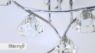 Jewel 6 Light Chrome Semi Flush Ceiling Light | Litecraft - Lighting Your Home