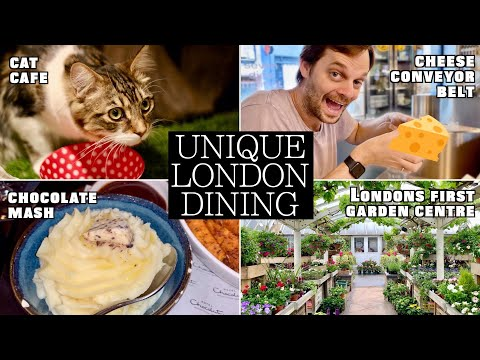 MUST VISIT UNIQUE Restaurants In London | Cheese Conveyor Belt, Eat In A Toilet, Chocolate Potatoes!