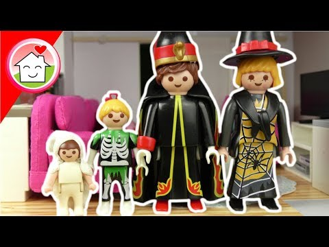Playmobil Film deutsch - Familie Hauser in 4 Halloween Styles - Video für Kinder