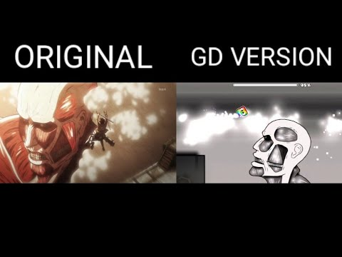Geometry Dash AOT Opening VS Original AOT Opening