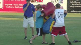 Funny Boxing Kids at Minor League Baseball Game (183)
