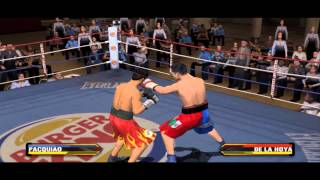Oscar De La Hoya Vs Manny Pacquiao - Fight Night Round 3 Gameplay PC