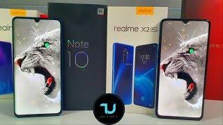 Xiaomi Mi Note 10 Vs Realme X2 Pro Camera Comparison/screen/size/sound Speakers/design! Cc9 Pro
