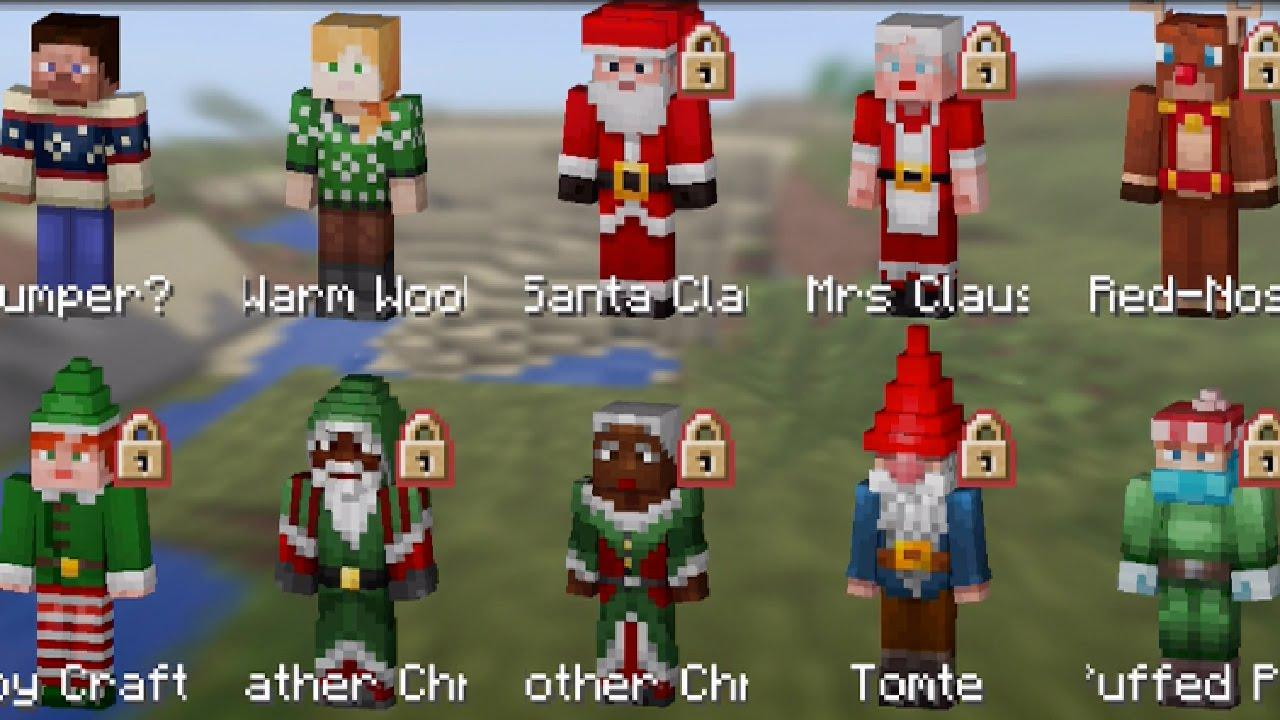 minecraft pe new xmas skins update 0131 minecraft pocket edition new skins - Christmas Skins For Minecraft