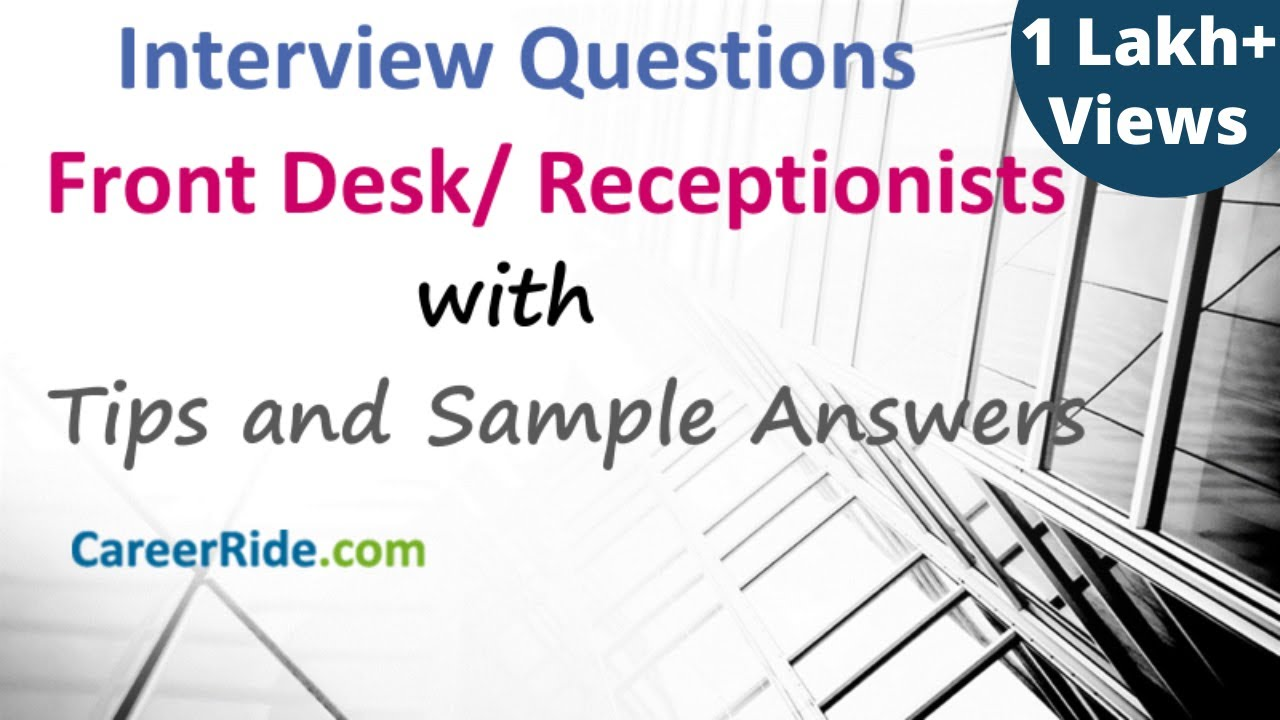 Front Desk Interview Questions And Answers