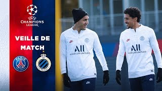VIDEO: VEILLE DE MATCH : PARIS SAINT-GERMAIN vs CLUB BRUGES