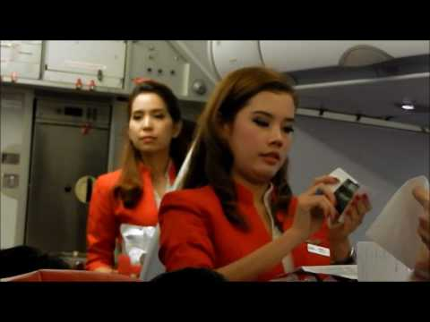 Air Asia Flight racing the storms from Cambodia to Bangkok