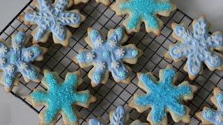 FROZEN Elsa Inspired Cookies - DIY Tutorial Thumbnail