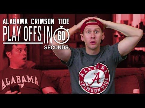 Alabama Crimson Tide Fans | College Football Playoffs in 60 Seconds