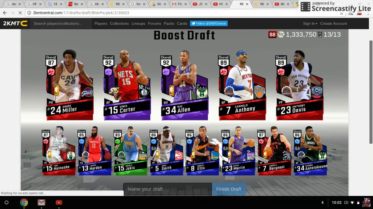 How To Get The Boost Draft On 2KMTCENTRAL!!!!!!Hidden Draft  type!!!!!!!!!!!!!