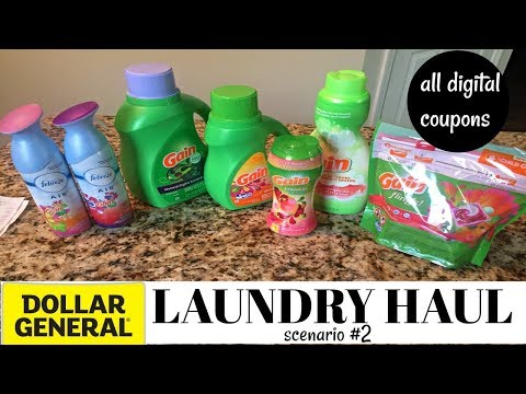 DOLLAR GENERAL LAUNDRY HAUL| SCENARIO #2| MAJOR SAVINGS| DIGITAL COUPONS ONLY|