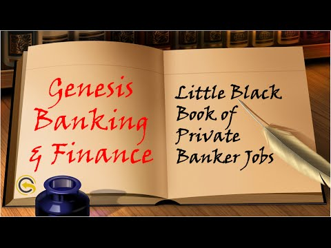 Genesis Banking & Finance Little Black Book of Private Banking Jobs!