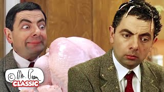 THANKSGIVING TURKEY EXPLOSION! | Mr Bean: The Movie | Classic Mr Bean