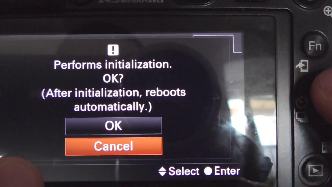 A6000: How to reset camera to Default Settings