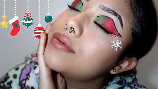 Maquillaje para quedarte sentado toda la noche en navidad :) ~ Laura