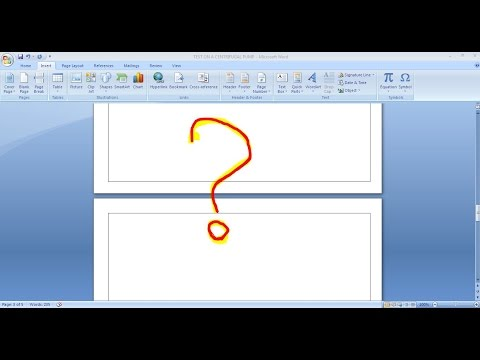 How To Remove A Blank Page ? - Ms Word