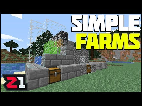 Building Some SIMPLE FARMS ! Z-Craft Episode 7 Minecraft Gameplay | Z1 Gaming