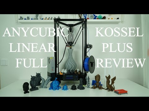 Anycubic kossel Linear Plus full test and review + upgrades