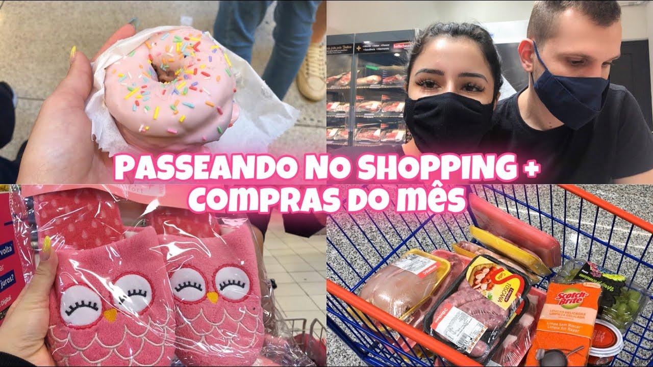 VLOG: PASSEANDO NO SHOPPING- COMPRAS DO MÊS- MERCADO NOVO!