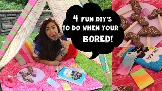 One of Cassie Diamond's most viewed videos: 4 Fun DIY's To Do When You're Bored!