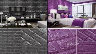 Xốp dán tường 3D - Phòng Khách - Phòng Ngủ