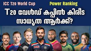 T20 വേൾഡ് കപ്പിൽ കിരീട സാധ്യത ആർക്ക്? | ICC T20 World Cup Power Ranking