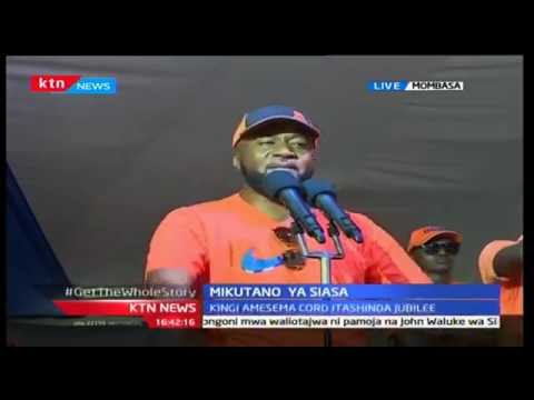 Mombasa crowd goes wild as Governor Ali Joho attacks Jubilee government