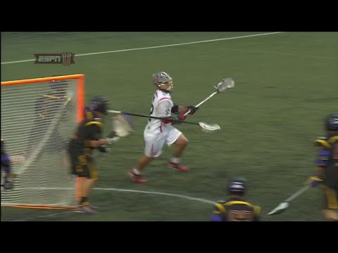 Rob Pannell low angle shooting on dodges from X at FIL World Championships