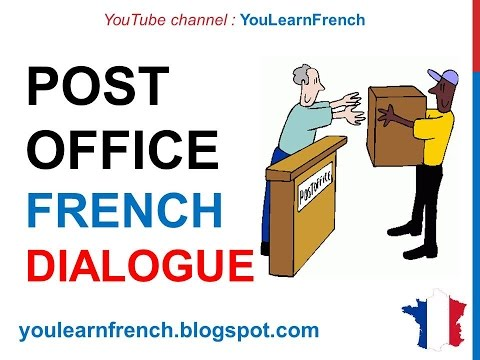 French Lesson 67 - At the post office - Formal Dialogue Conversation + English subtitles