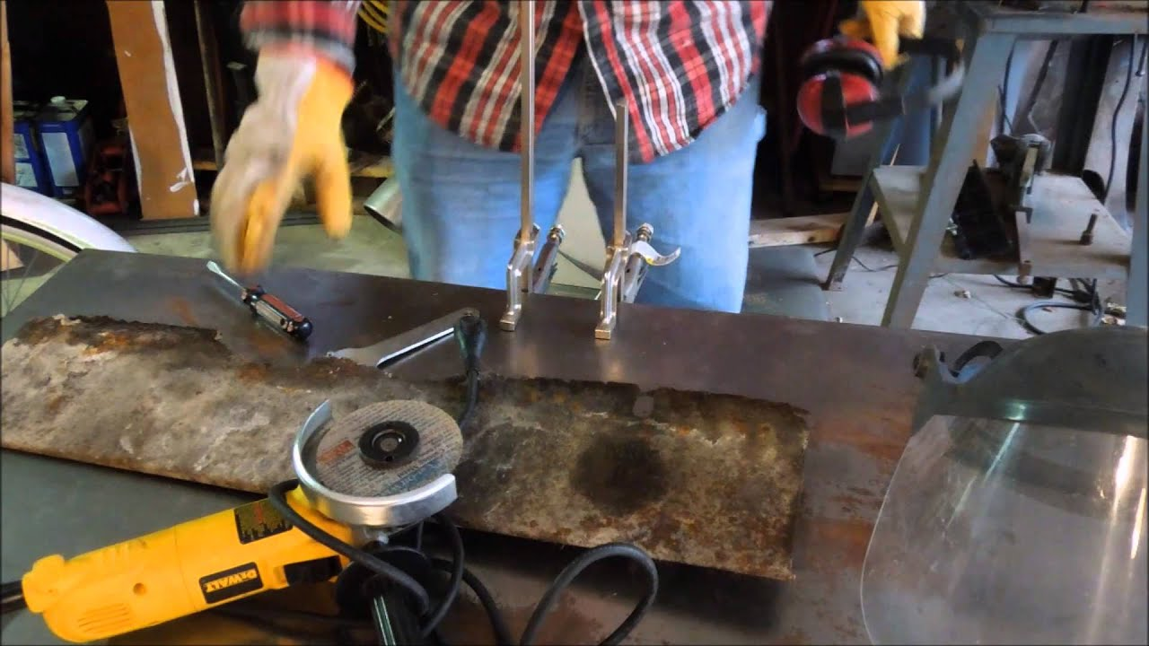 Fireplace Damper Repairs Pt 3 Cutting The Plate By Old Sneelock S Work You