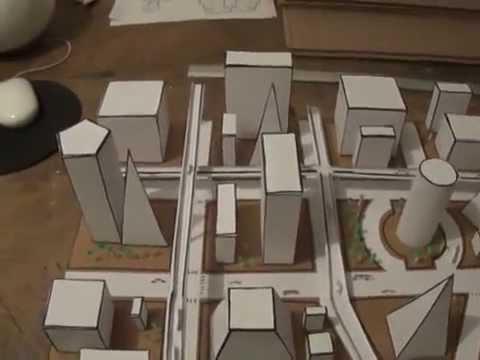 Ciudad geom trica maqueta youtube for Programa para hacer edificios en 3d