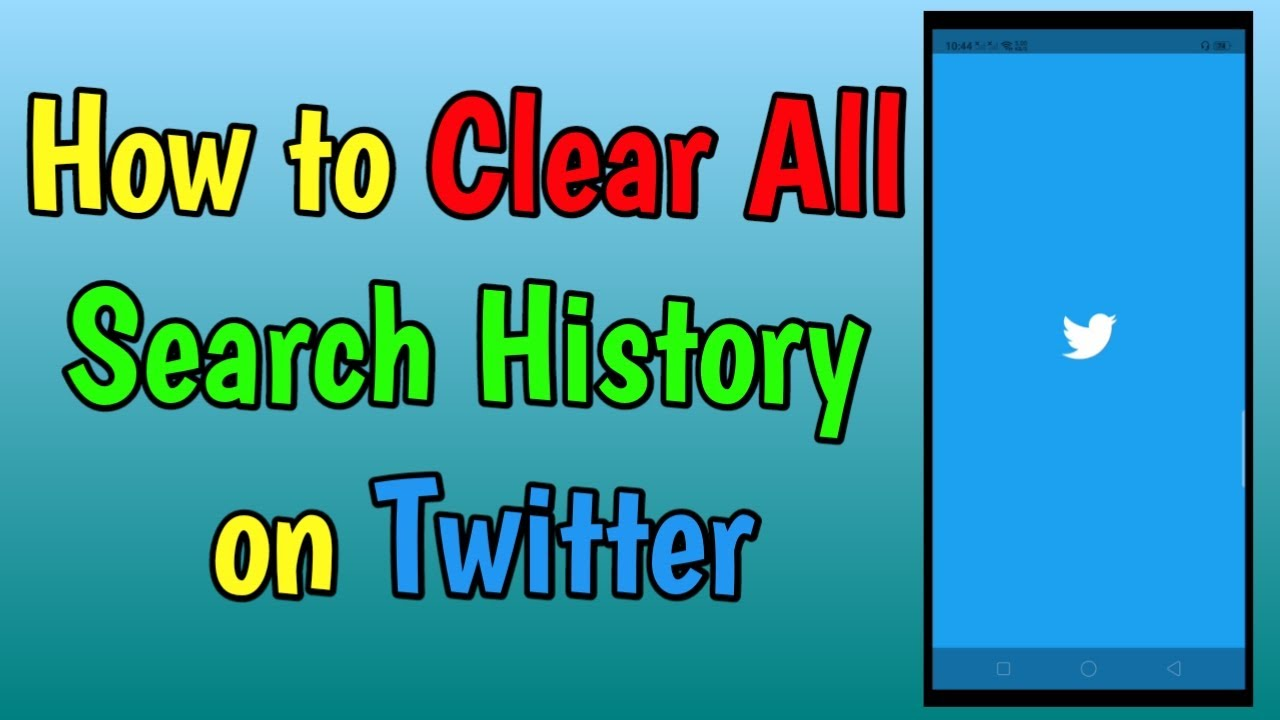 How to Clear All Search History on Twitter