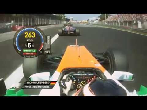 Hulkenberg Vs Vergne Onboard Monza 2012 F1