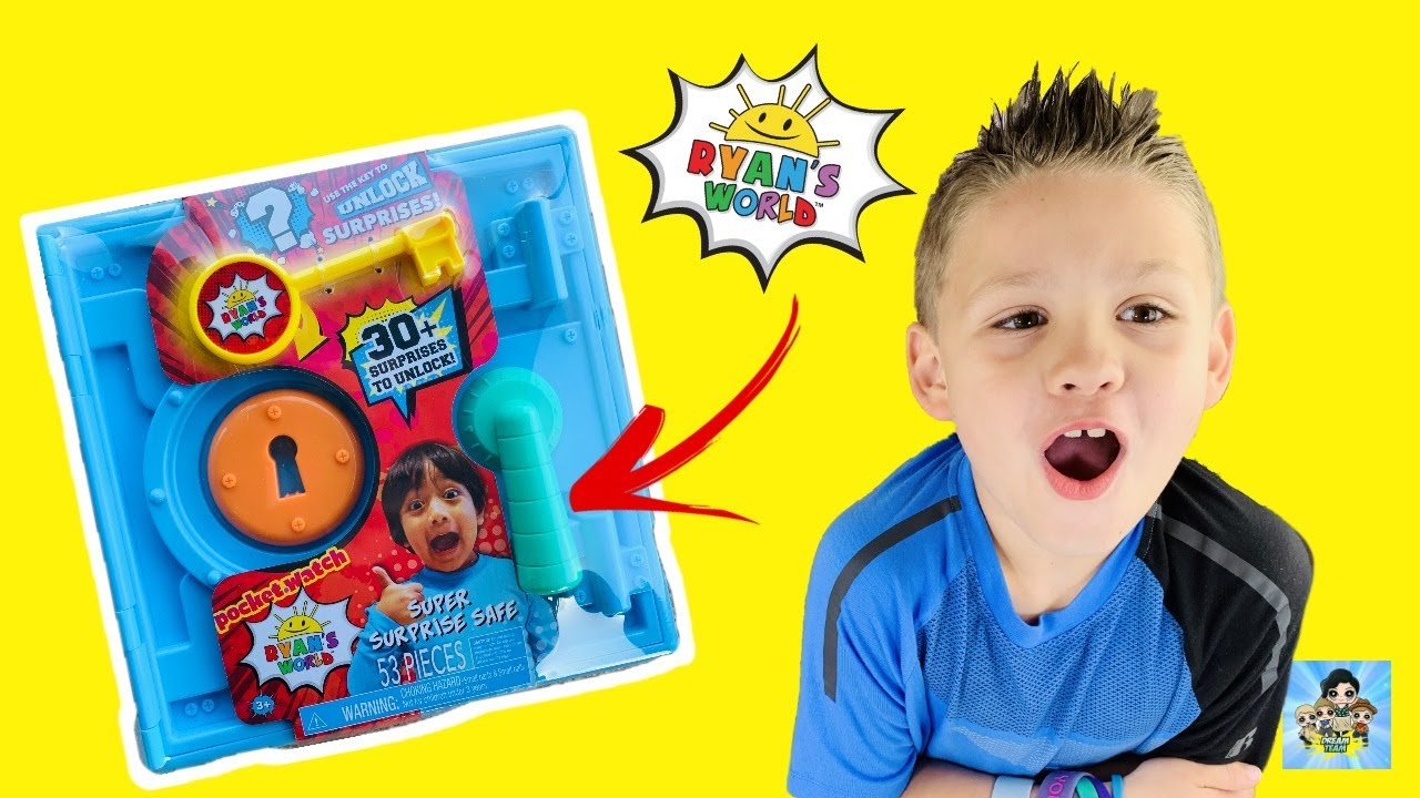 Ryans World Surprise Safe by Just Play! Unboxing Secret Surprises!